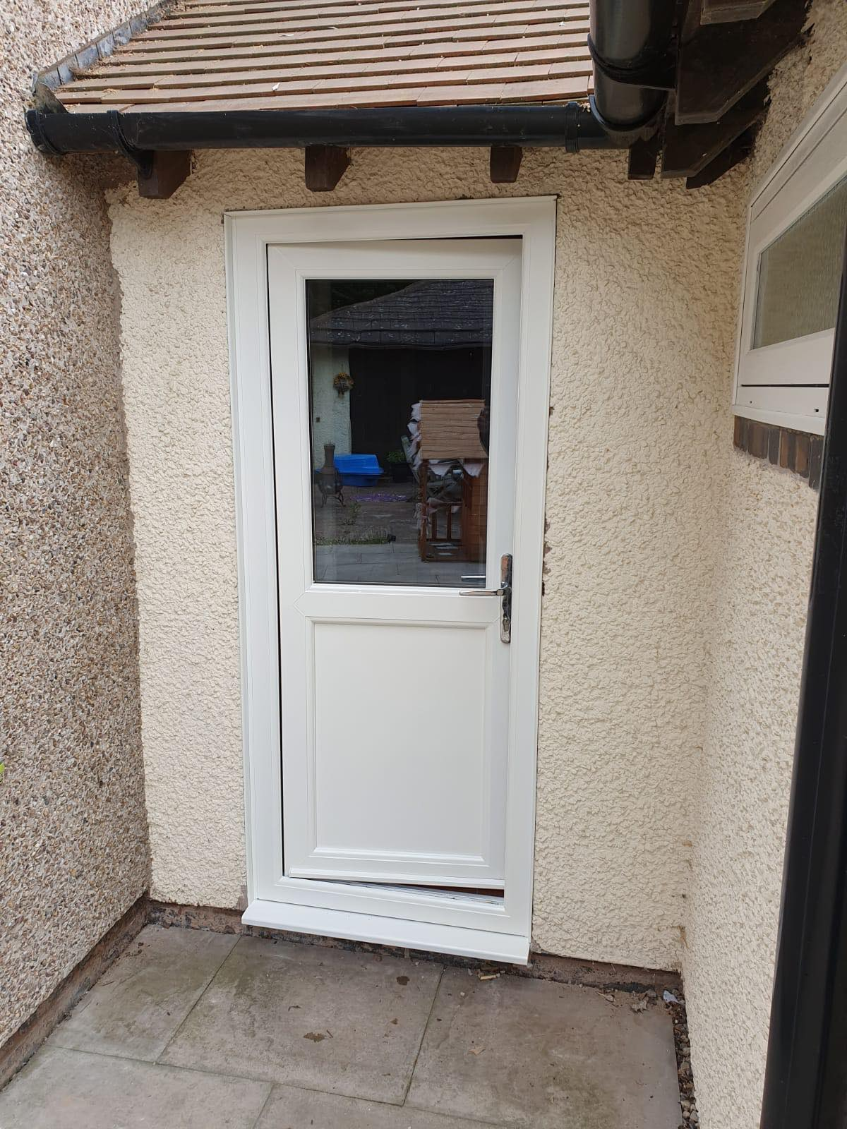 Front Door uPVC Spray Painted