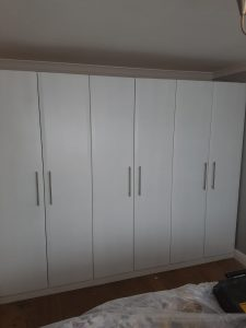 uPVC Wardrobe Spraying After