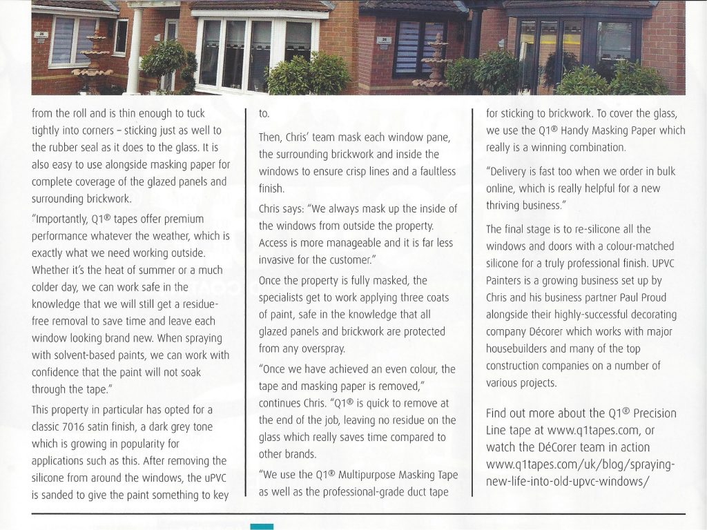 Professional Painter and Decorator Magazine Article