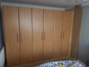 uPVC Wardrobe Spraying