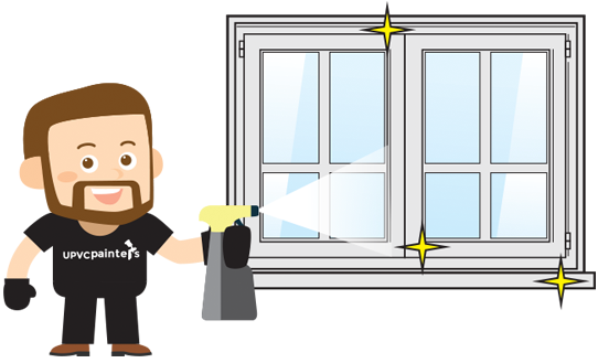 The next step, using the specialist cleaning products, is to fully clean and de-grease the uPVC windows or doors.